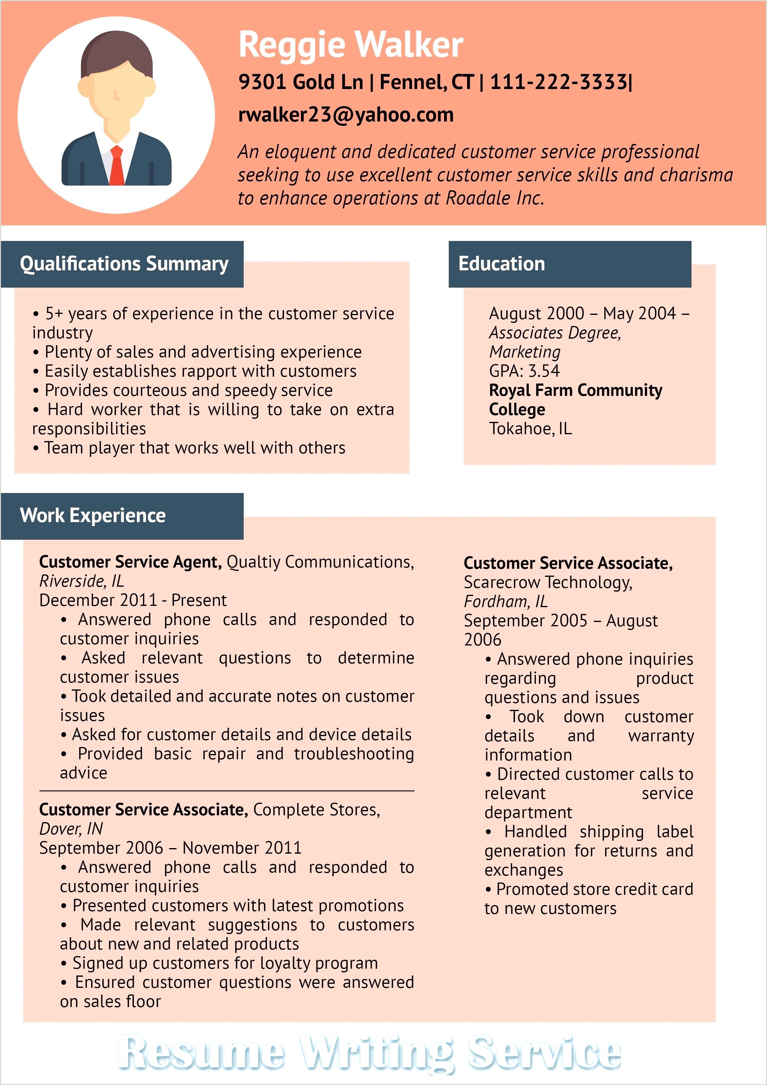 Customer Service associate Job Description Resume 10 Summary In A Resume Examples