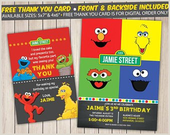 Customized Sesame Street Sign Custom Sesame Street Invitations Inspirational Sesame Street