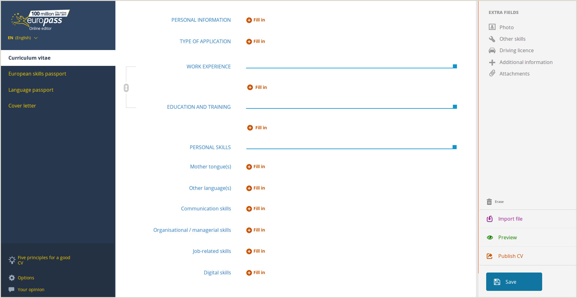 Cv Europass format In Romana Applicazione Online Curriculum Vitae
