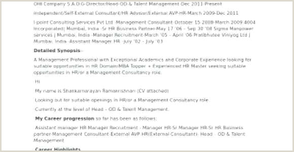Cv Example For Hotel Job Director Level Cv Examples