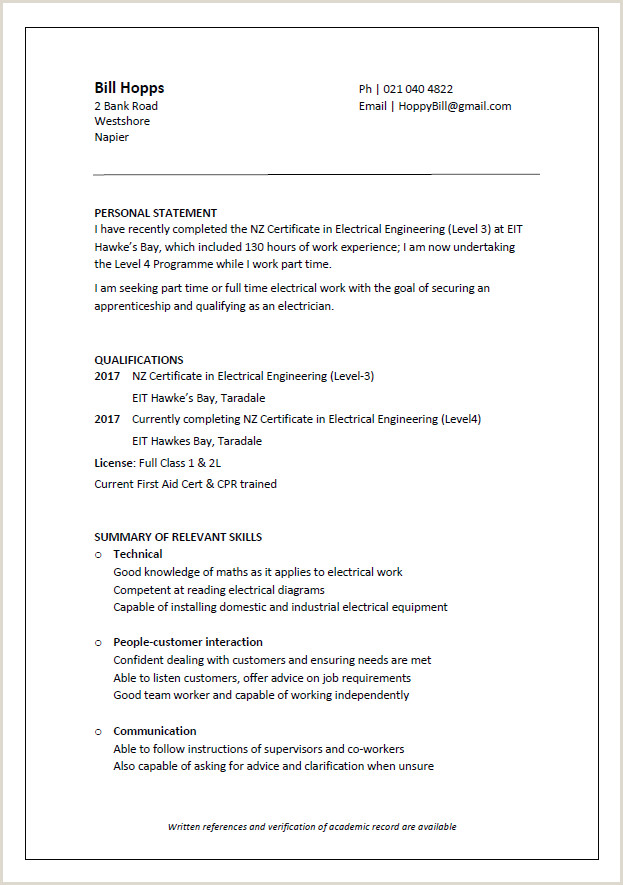 Cv Example for Job Application Cv formats and Examples