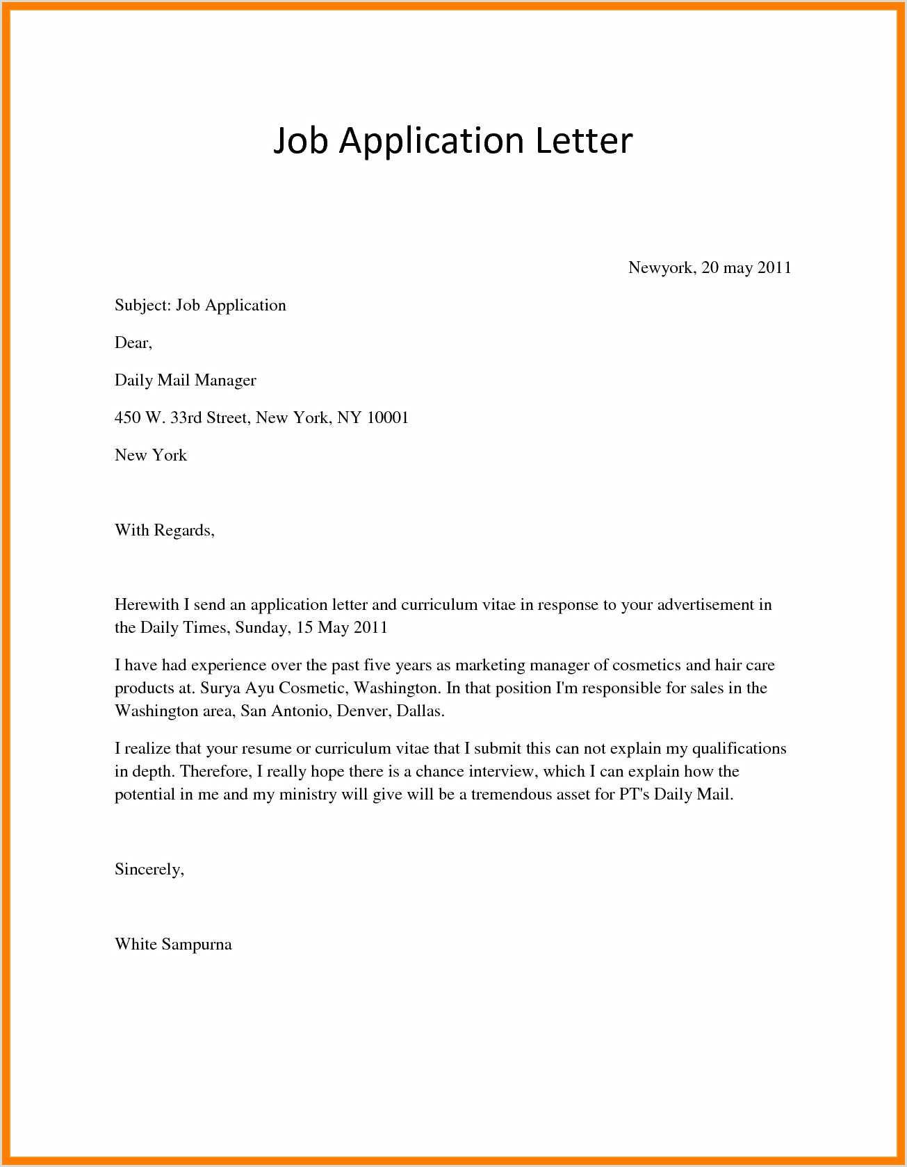 Cv Example for Job Application Pdf Sample Cv for Internship Pdf