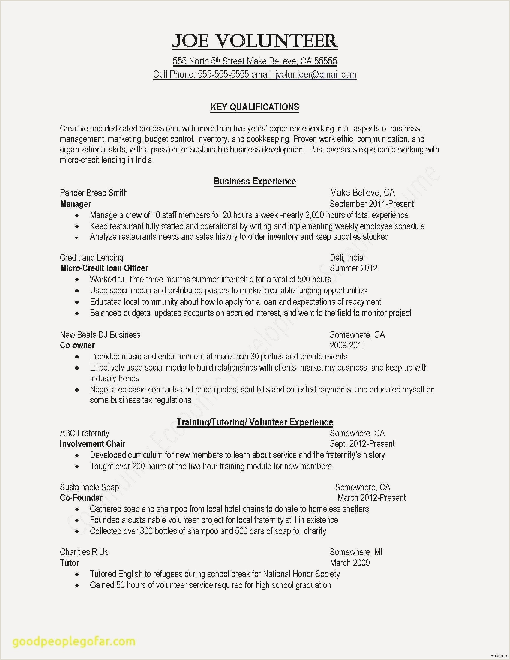 Cv Example For Nanny Job Inspirational Example Or Resume – 50ger