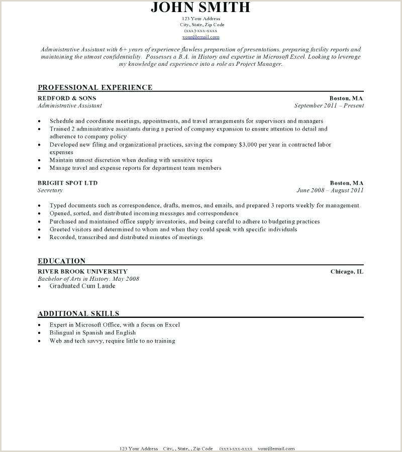 Simple Resume Examples for Jobs New Qualifications for