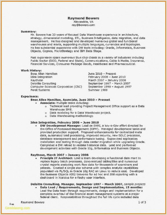 Cv Examples Uk Luxe Resume Template for Warehouse Position