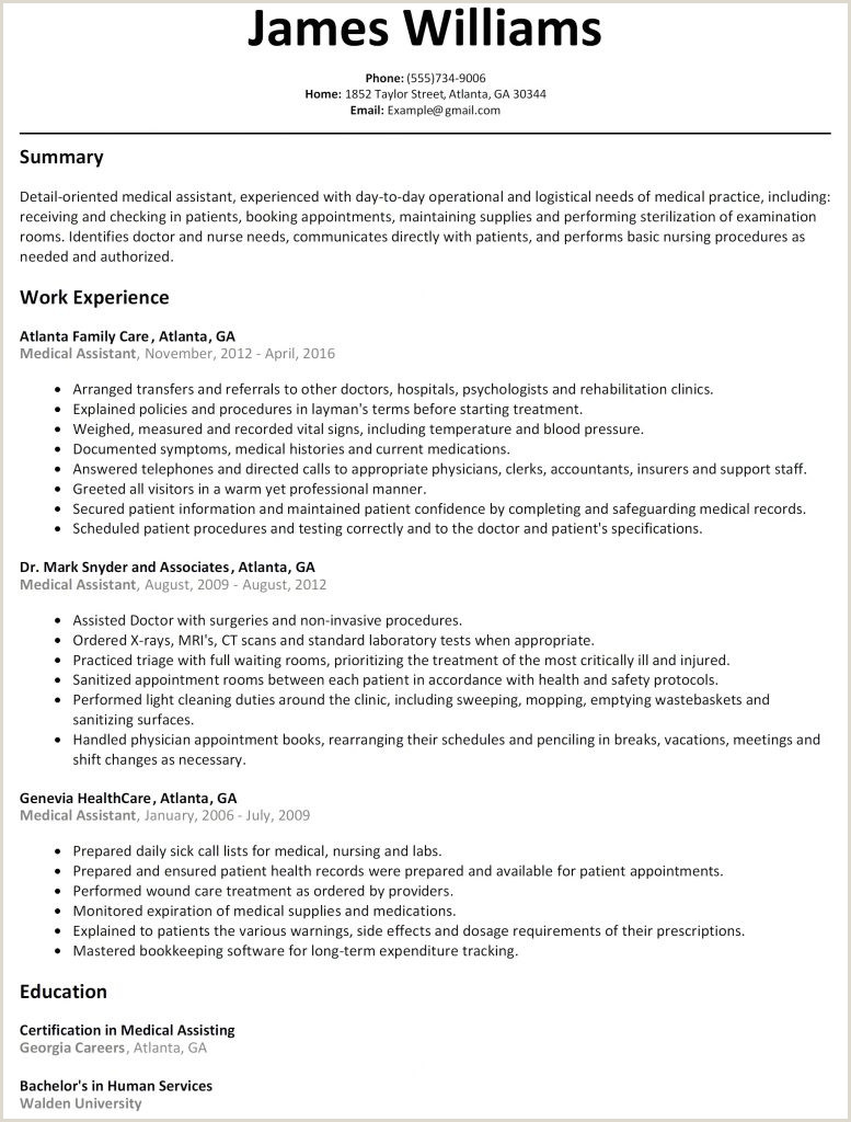 Cv Examples for Receptionist Job Medical Clerk Resume Templates How to Write Perfect
