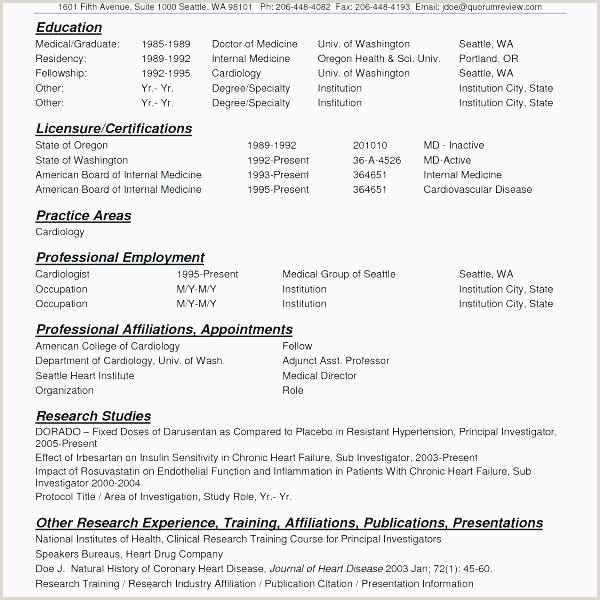 Cv format Clinical Research Professional Proper Resume Example New Resume Objective Samples Lovely