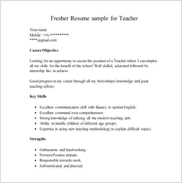 Cv format Doc for Freshers Download Cv Template Pdf