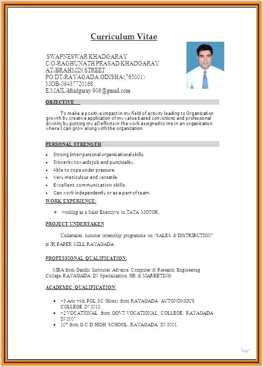 Cv format Doc for Freshers In Pakistan Download This Template Here Resume for Ms Word Best Cv