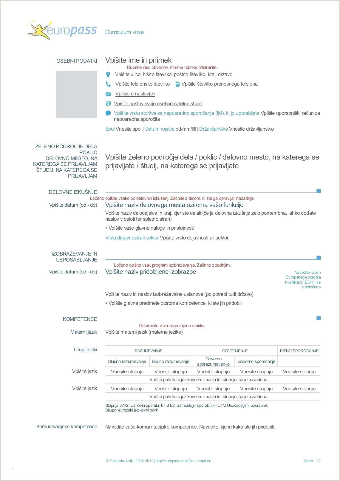template Skills Resume List Examples Europass Cv