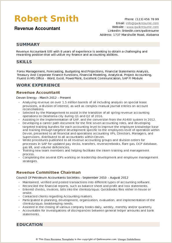 Cv format for Accounting Job Pdf 10 Accountant Resume Examples