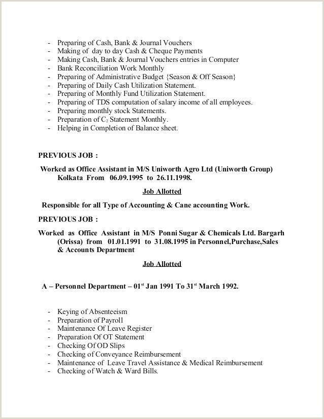 Cv format for Admin Job Administrative assistant Job Description for Resume
