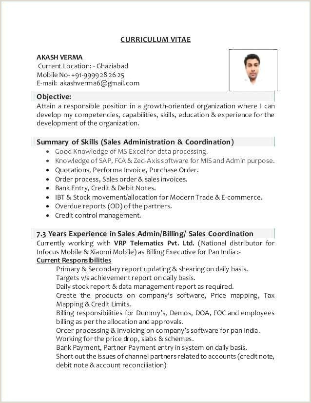 Cv Format For Bank Job 65 Cool Collection Sample Resume Objectives Quality