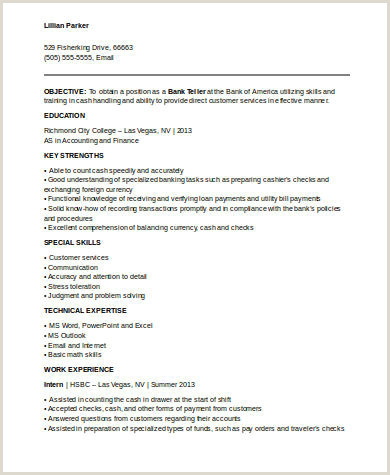 Cv Format For Bank Job Download No Experience Resume Sample 7 Examples In Word Pdf