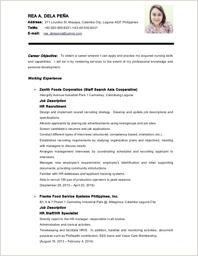 Cv format for Bank Job In Bangladesh Pdf Job Application Resume Template