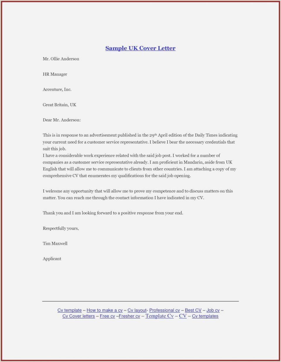 Cv format for Bank Job In India 7 Application Letter Samples Writing Letters formats