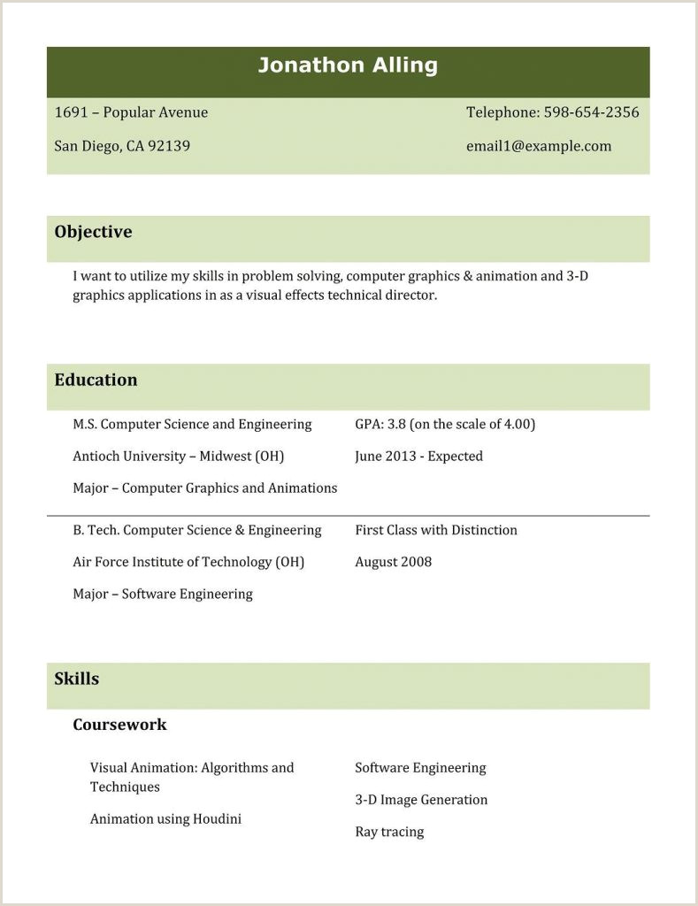 Cv format for Btech Fresher Download Resume Templates for Freshers Free Mba Hr attractive