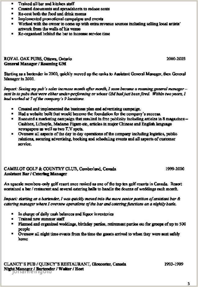 Cv Format For Canada Job Cv Hotellerie Nouveau Unglaubliche Bewerbung Hotel