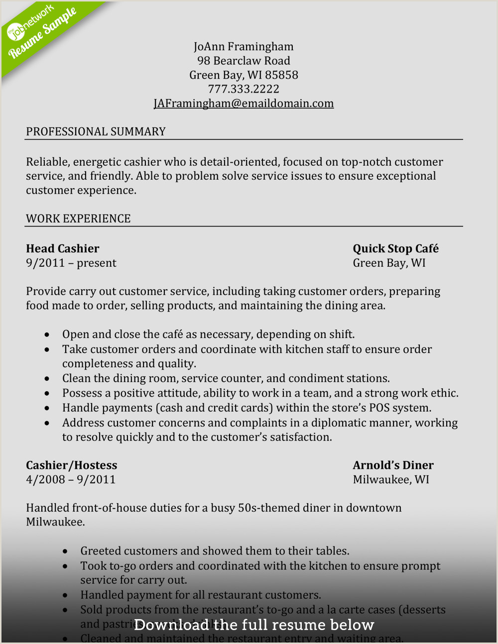 Cv format for Cashier Job Restaurant Cashier Resume Samples Velvet Jobs How to Write A