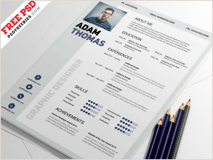 Cv format for Cleaning Job Clean Resume Design Template Free Psd