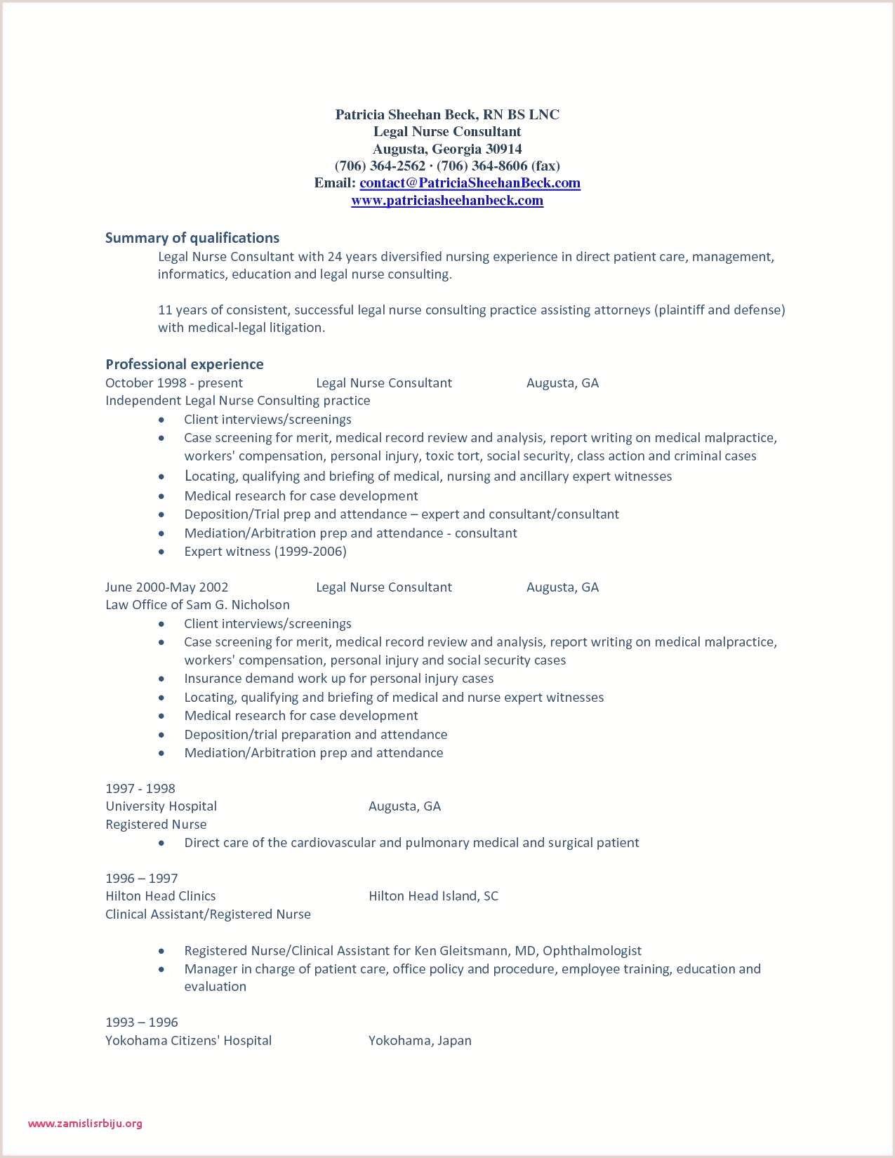Example Resume to Apply Job Inspirational Nurse Resume
