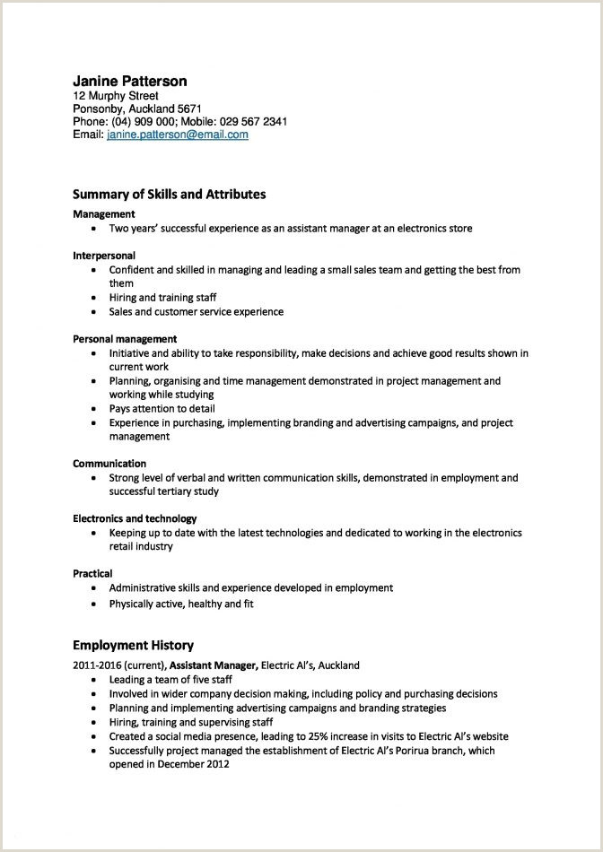 Cv format for Company Job Objective for A Resume New Chiropractic Samples General