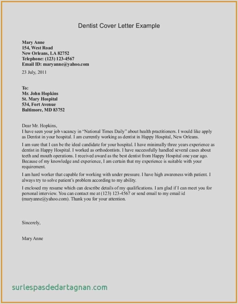 Cv format for Dentist Cover Letter for Resume format Best Resumes and Cover