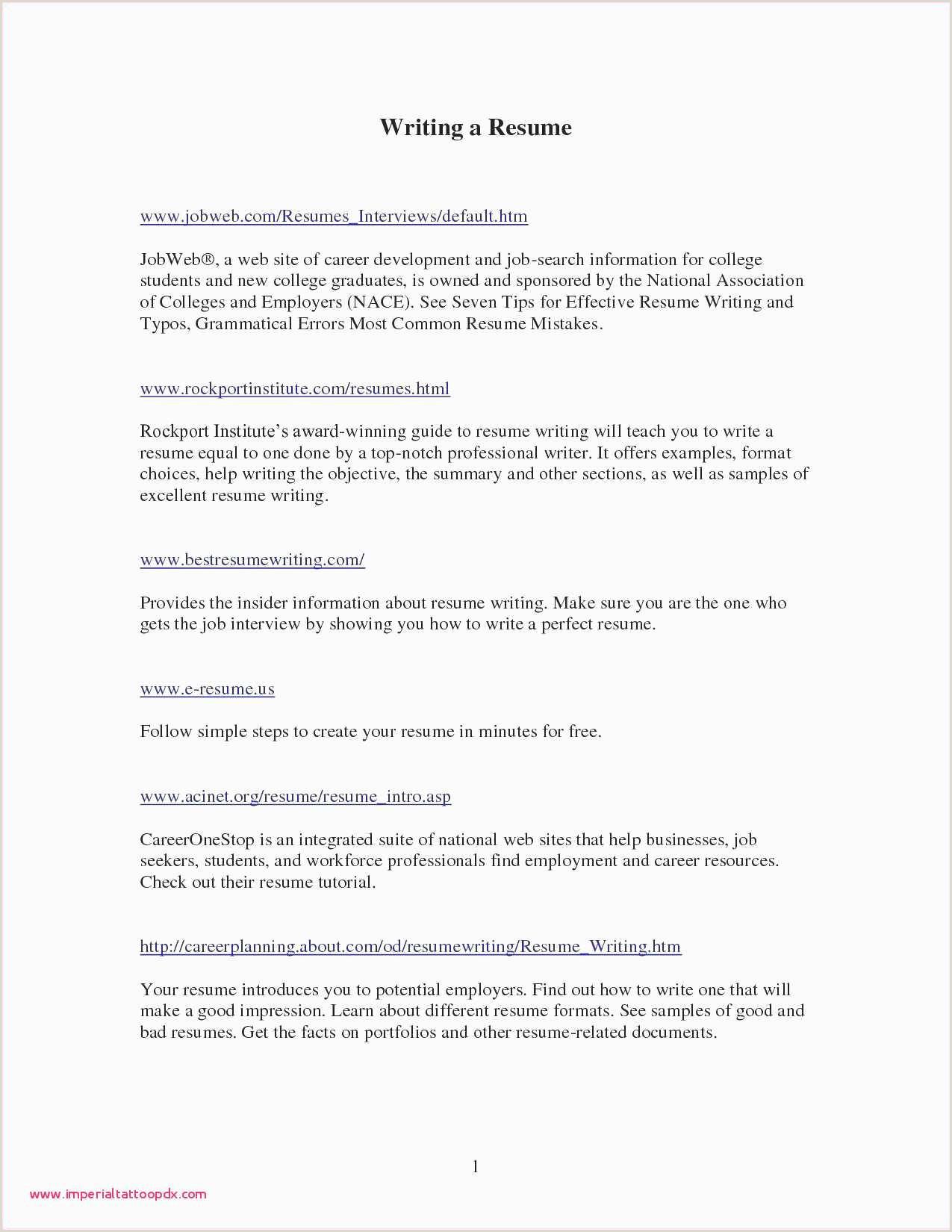 Resume Template Samples – Salumguilher