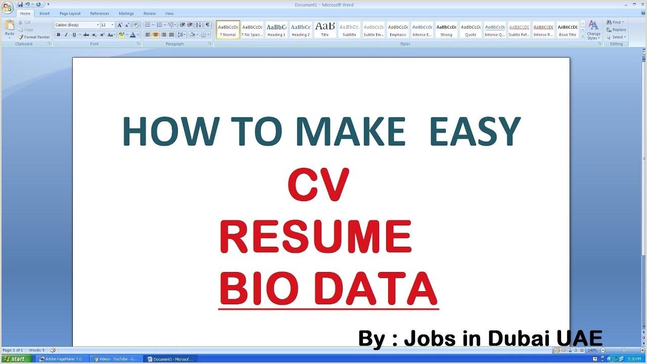 Cv Format For Driver Job In Uae Dubai Resume Format Zaloyrpentersdaughter