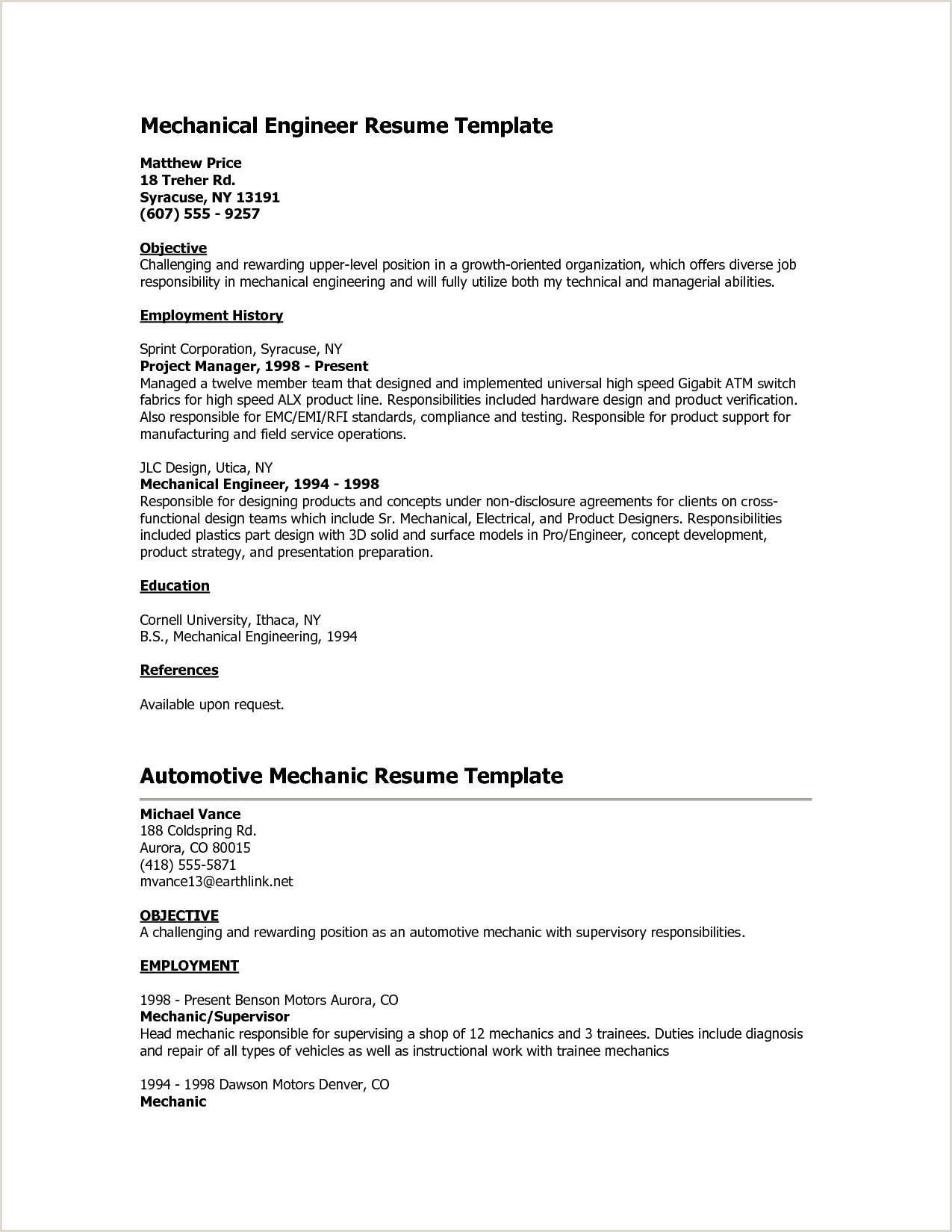 Cv format for Electrician Job 10 Sample Resume for Banking Jobs