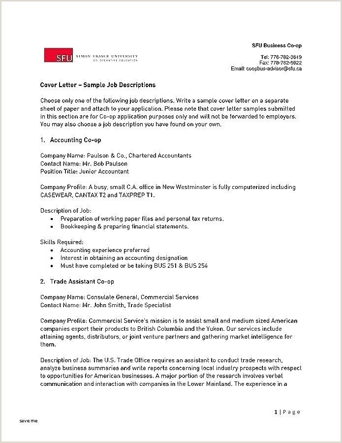 Cv format for Embassy Jobs Standard Job Description Template Pa Cv Driver Resume