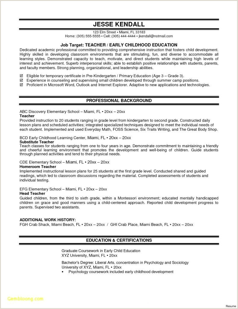 Cv Format For Environmental Jobs Good Resume For Teacher Job New Awesome Cover Letter And