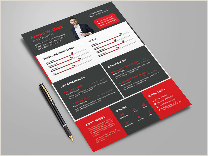 Cv format for European Jobs Free Cv Template Bundle by James Han On Dribbble