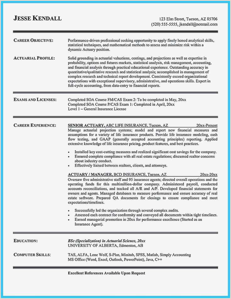 Cv Format For Finance Job Finance And Insurance Manager Resume Free Insurance Agents