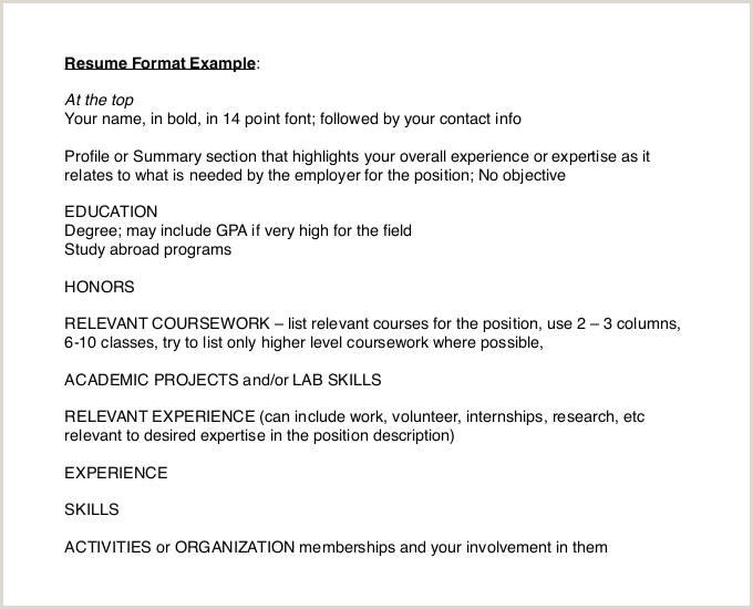 Cv Format For Foreign Job 47 Best Resume Formats Pdf Doc