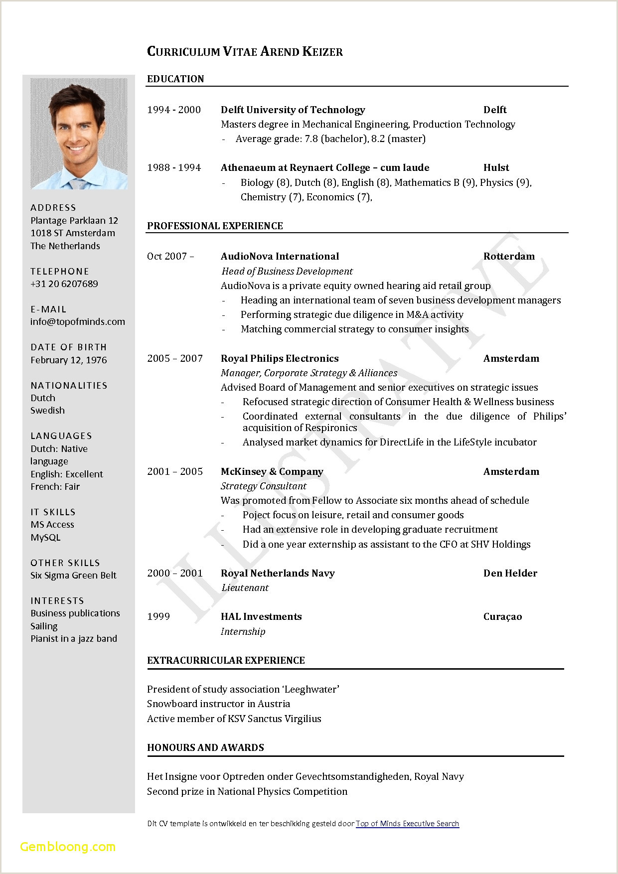 Cv format for foreign Job Executive Resume Template Word Free Download assistant