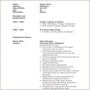 Cv format for Fresher Air Hostess 45 Exemple Image Cv Xenakisworld