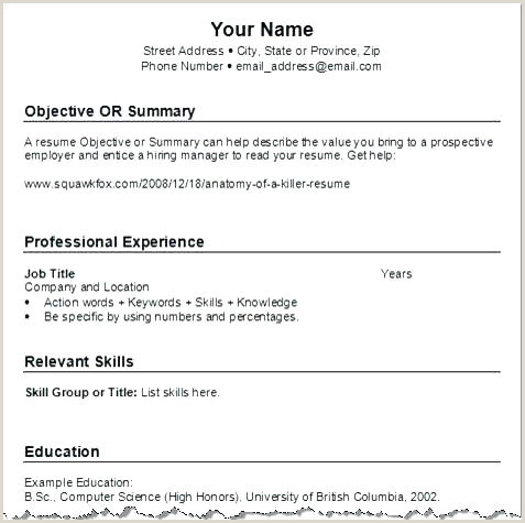 Cv format for Fresher Air Hostess Basic Resume Outline