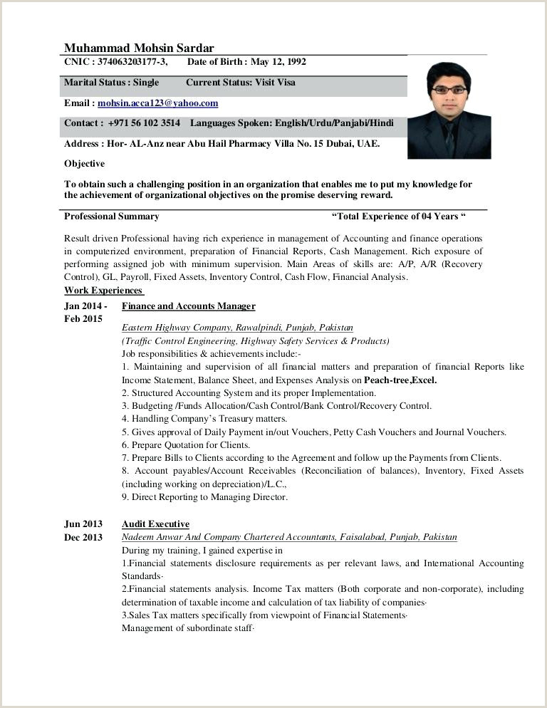 Cv format for Fresher Chartered Accountant Chartered Accountant Cv Template – Kidzmagz