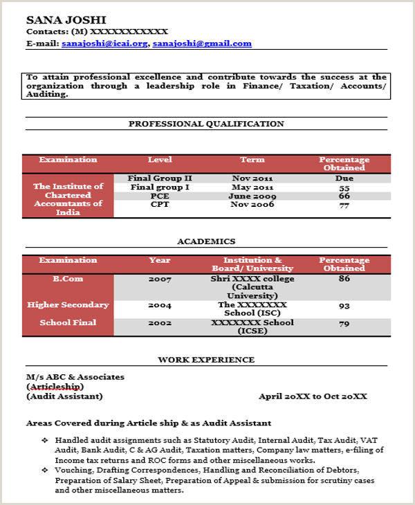 Cv format for Fresher Chartered Accountant the Best Custom Essay Writing Service Sample Resume
