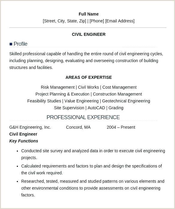 Cv format for Fresher Civil Engineer Resume Template for Civil Engineers – Highendflavors