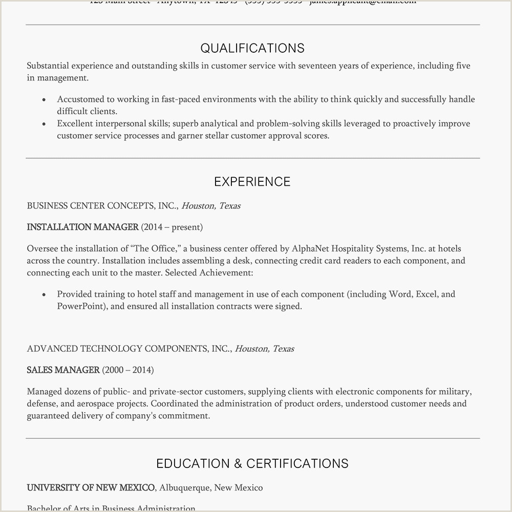 Cv format for Fresher Hotel Management Customer Service Manager Resume Example and Writing Tips