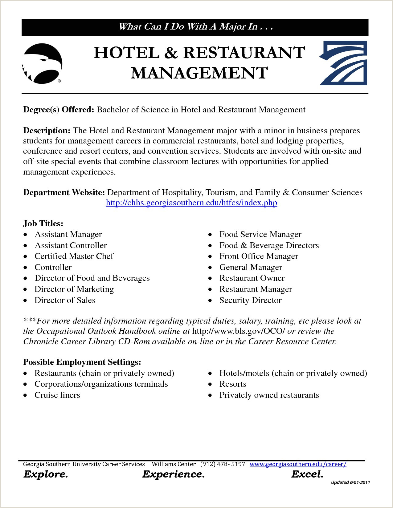 Cv format for Fresher Hotel Management Hotel Manager Resume
