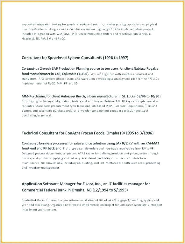 Cv Format For Fresher Hotel Management Sap Programmer Sample Resume – Podarki
