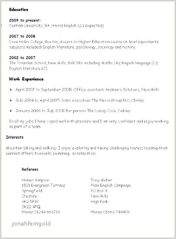 Cv format for Fresher Lecturer Good Resume Samples Sample Personal Profile Es for