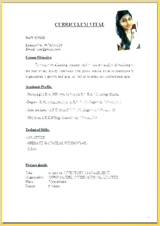 Cv format for Fresher Lecturer Resume format for Teacher Job – Dstic