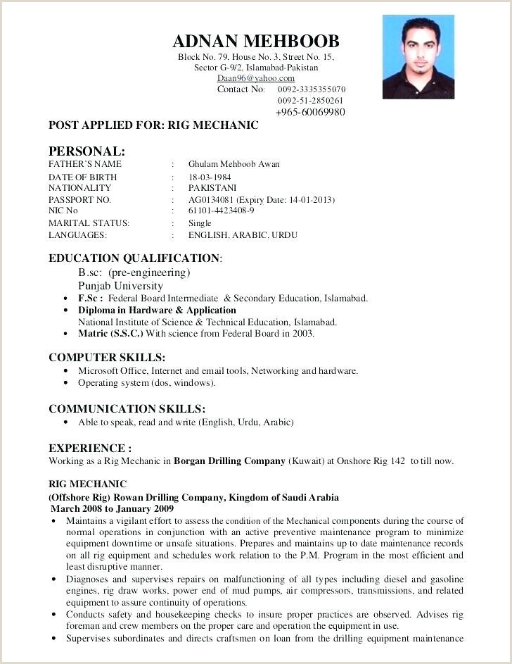 Cv Format For Fresher Nurses Resume Format For – Wikirian