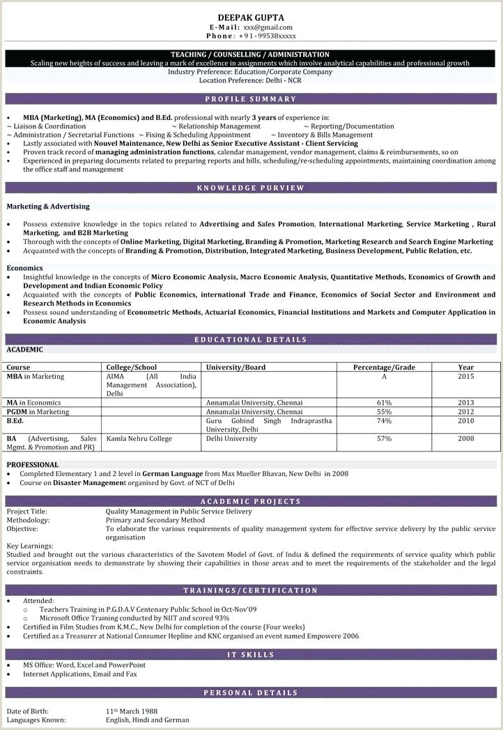 Cv format for Fresher School Teacher Teacher Resume format – Agarvain