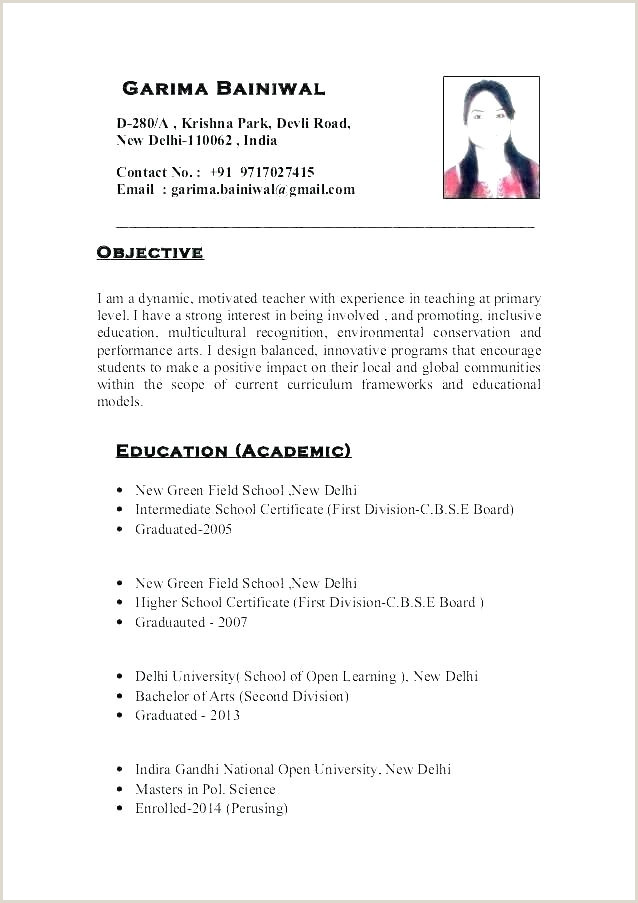 Cv format for Fresher Teachers Doc Teacher Resume format – Agarvain