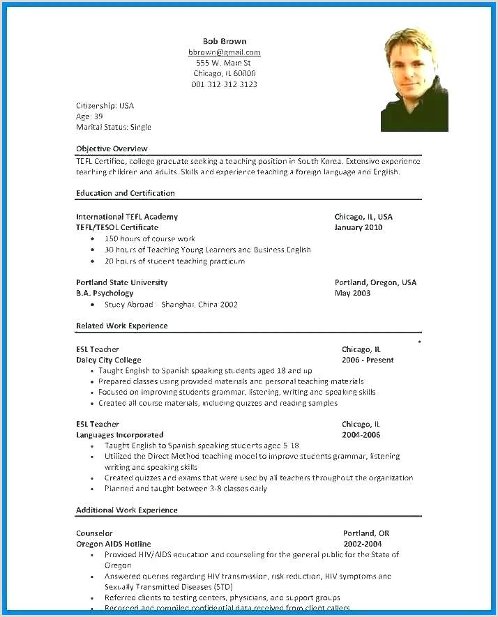 Cv Format For Fresher Teachers Doc Version Free Teacher Resume Template Teacher Resume Template
